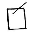 """Democracia. Es una urna con una papeleta. Si se cruza, puede ser antidemocrático. con una """"n"""" en la esquina, puede ser una votación."""